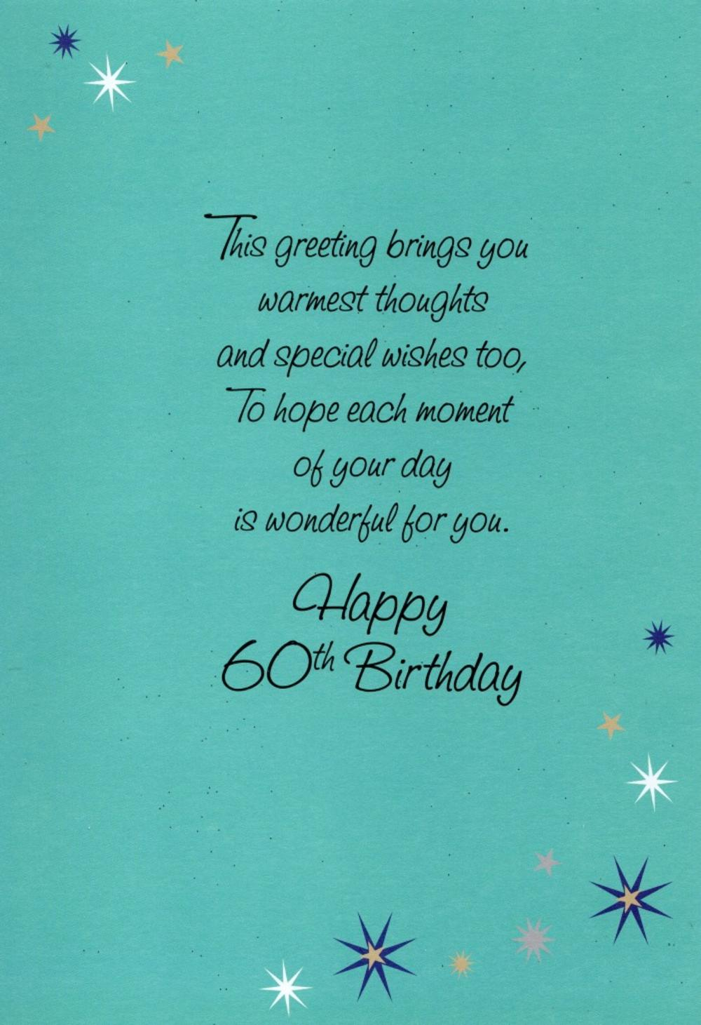 Happy 60th Birthday Greeting Card Cards Love Kates Happy 60th Birthday Wishes