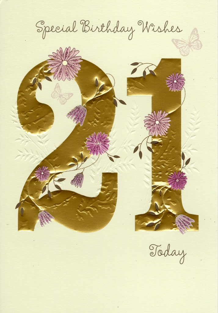 Happy 21st Birthday Greeting Card Lovely Greetings Cards ...