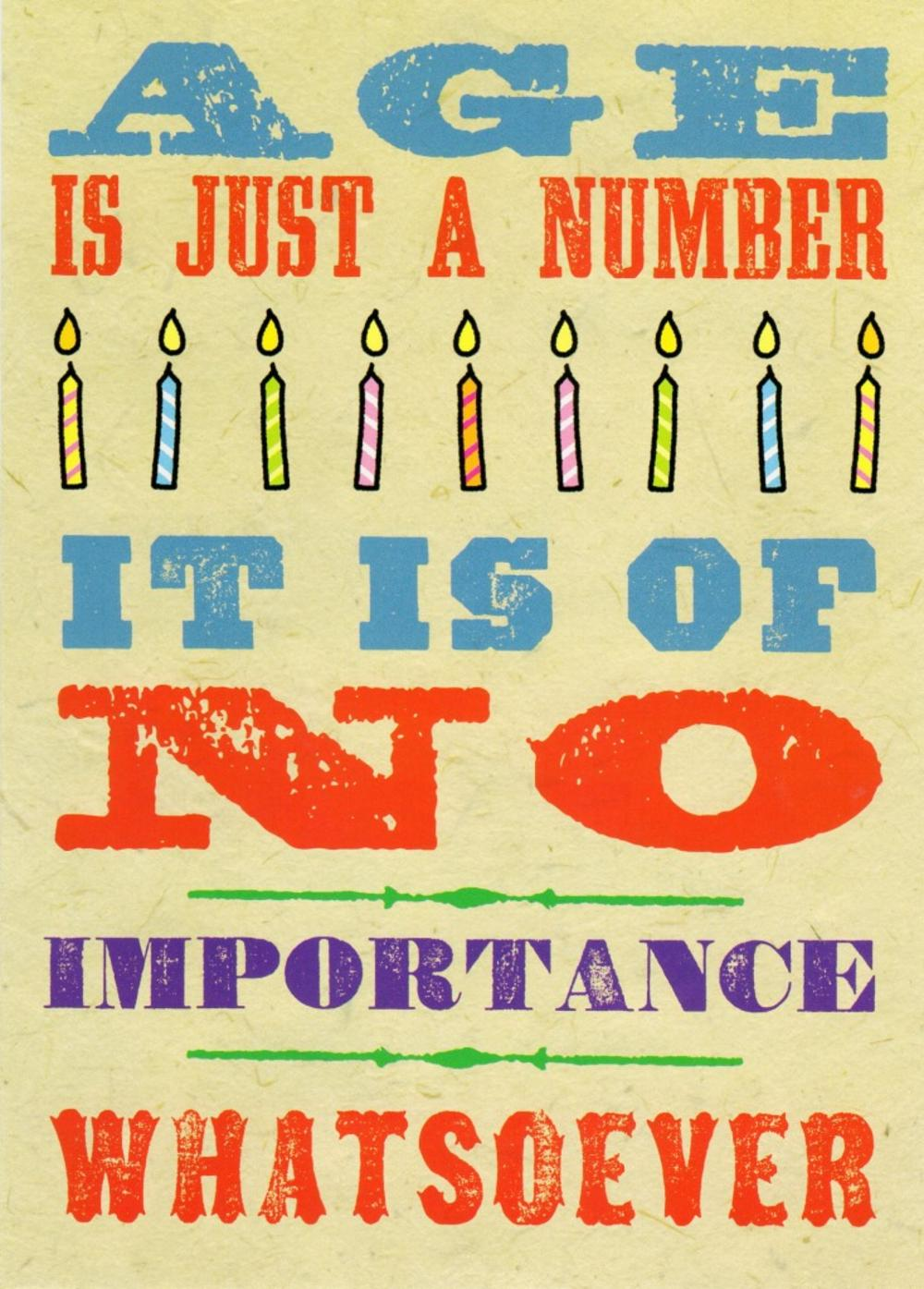 Age Is Just A Number Funny Birthday Card | Cards