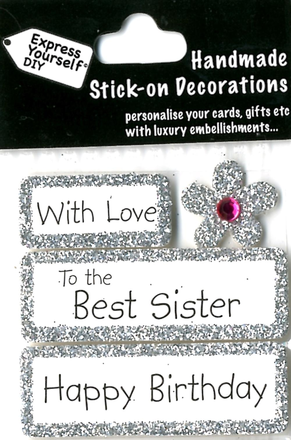 happy birthday best sister diy greeting card toppers