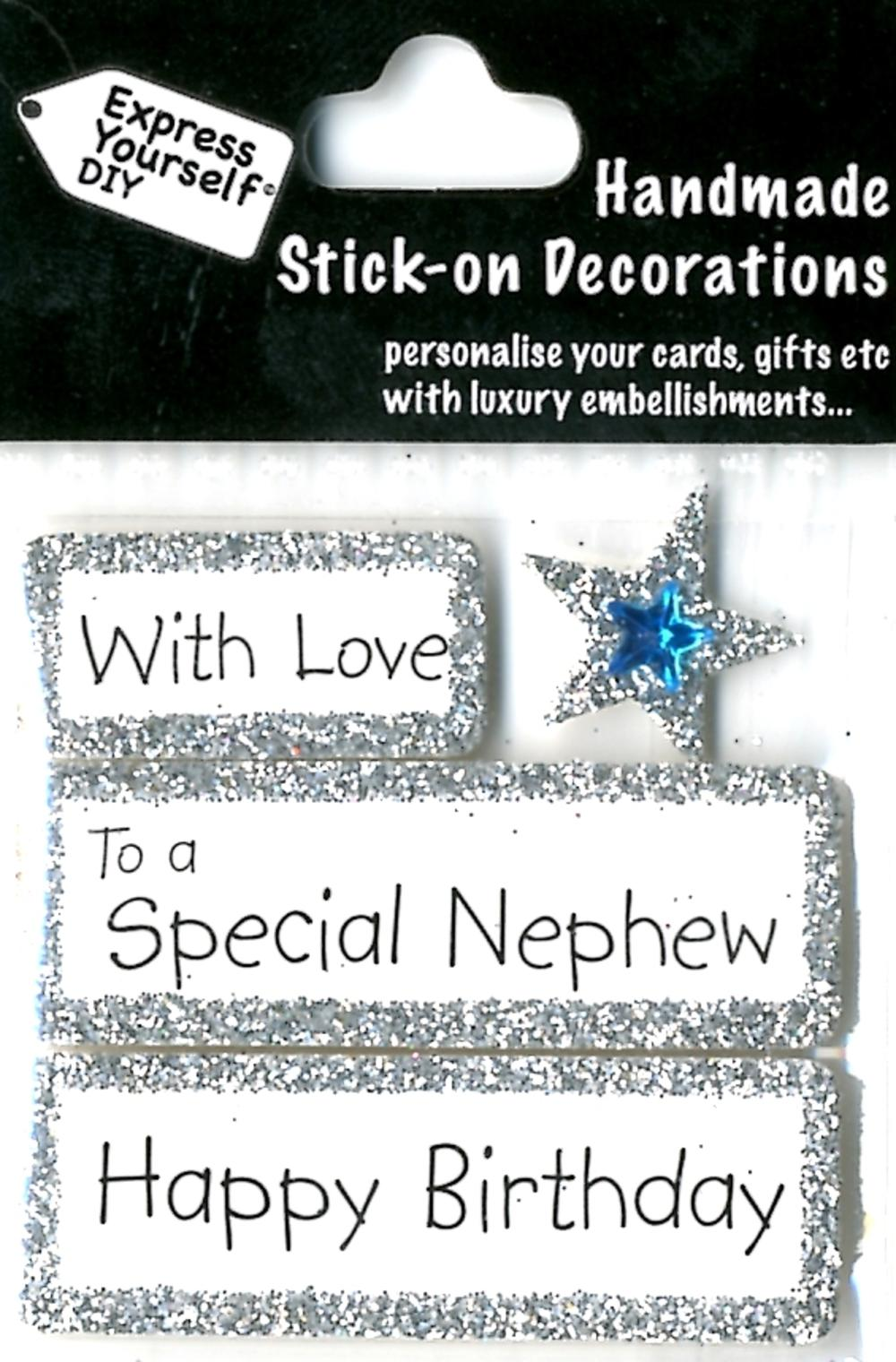 Wedding Gifts For Nephew : Happy Birthday Special Nephew DIY Greeting Card Toppers Gift ...