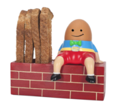 Humpty Dumpty Egg Cup & Soldiers Holder