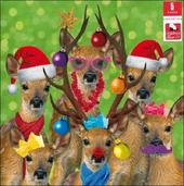 Pack of 5 Reindeer Children With Cancer Charity Christmas Cards