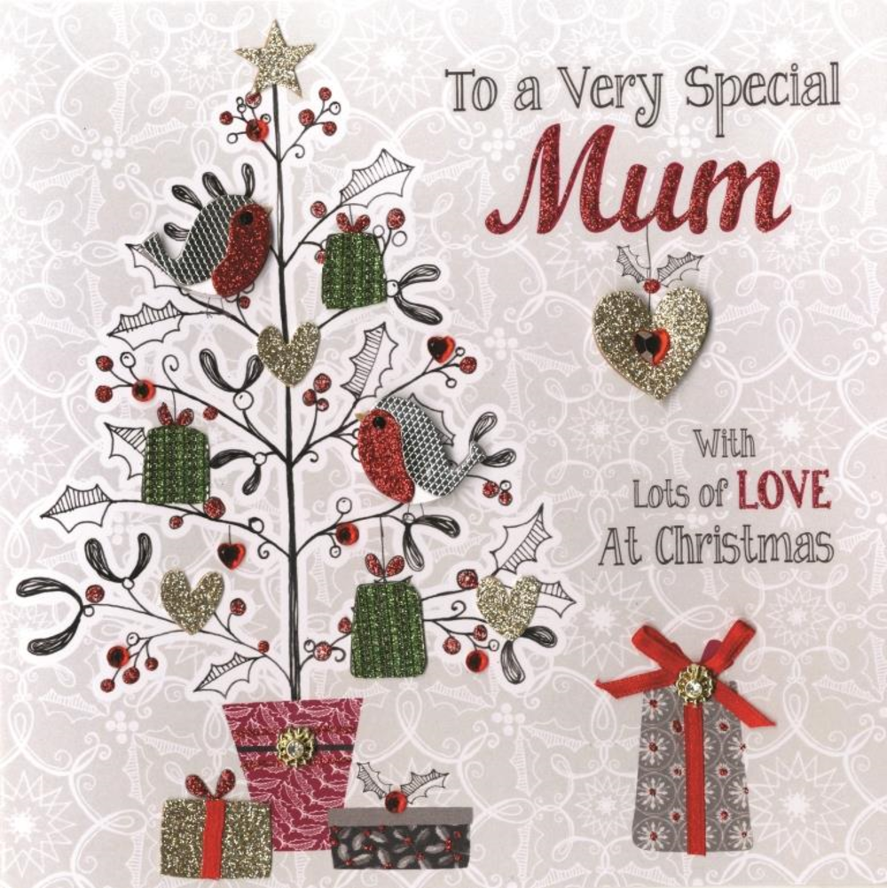 Boxed Very Special Mum Special Luxury Handmade Christmas Card  Cards  Love ...