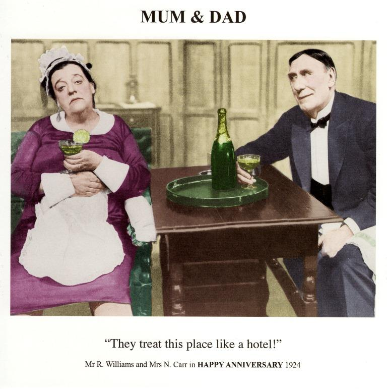 Mum dad happy anniversary greeting card cards love kates