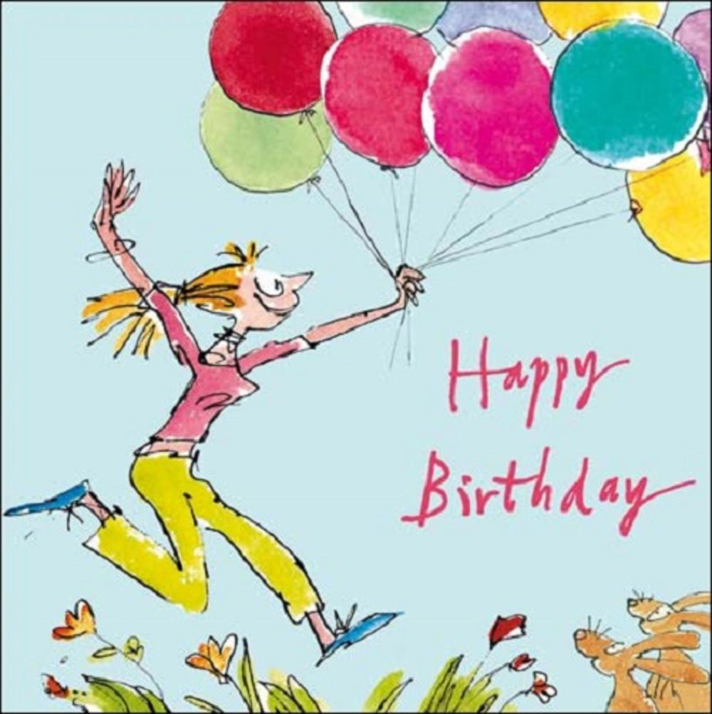 Balloons Happy Birthday Quentin Blake Greeting Card