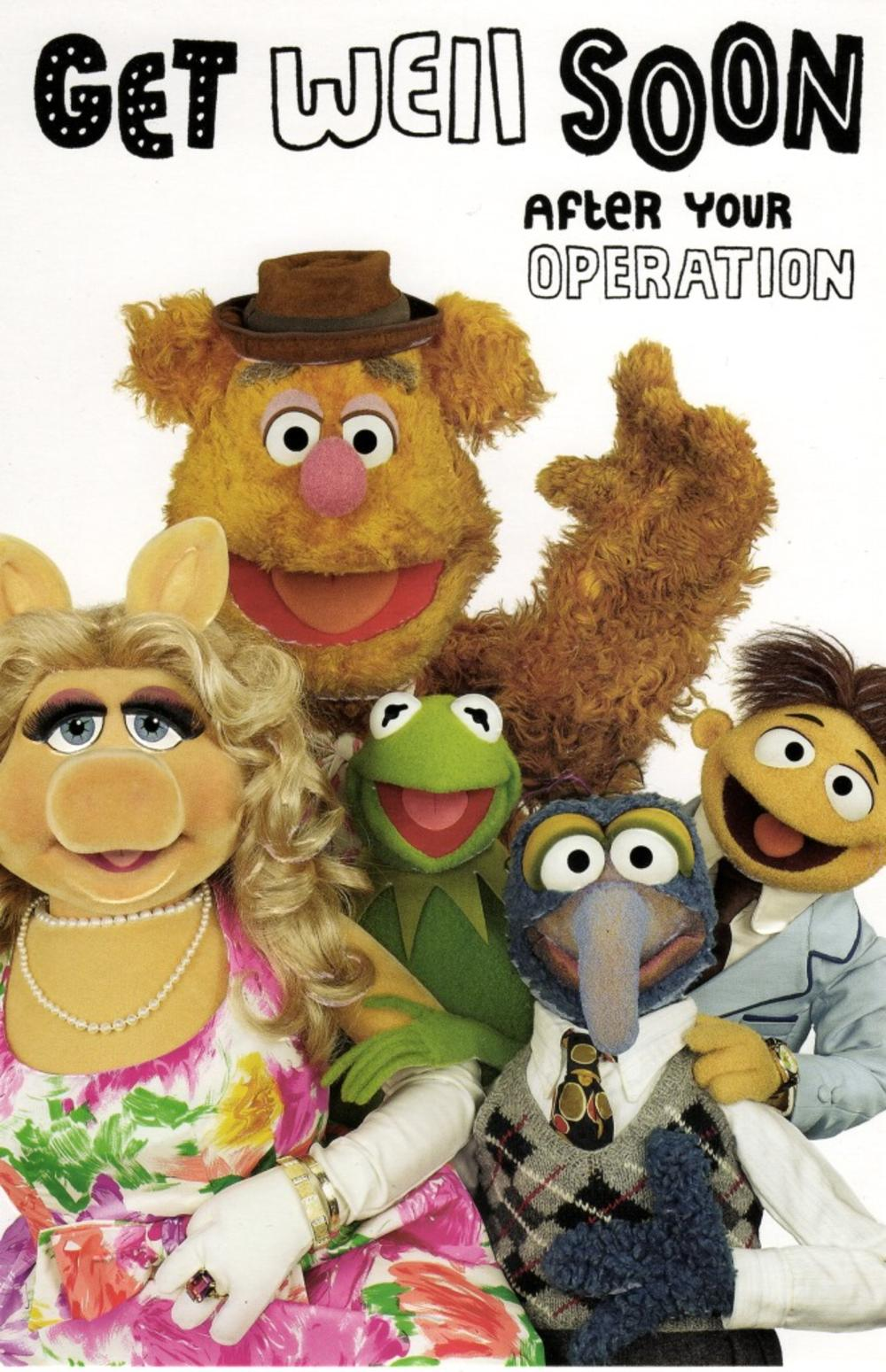 The Muppets Get Well Soon After Operation Card Cards
