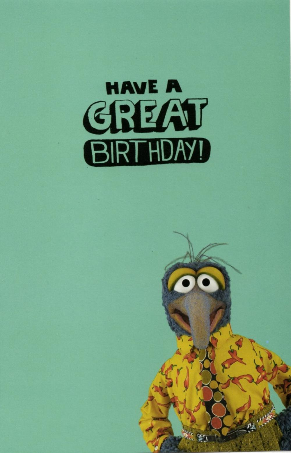 gonzo the great weird  proud birthday card  cards  love kates, Birthday card
