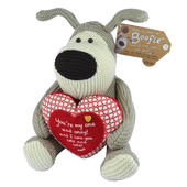 "Boofle Holding One & Only Love Heart 10"" Sitting Boofle Plush"