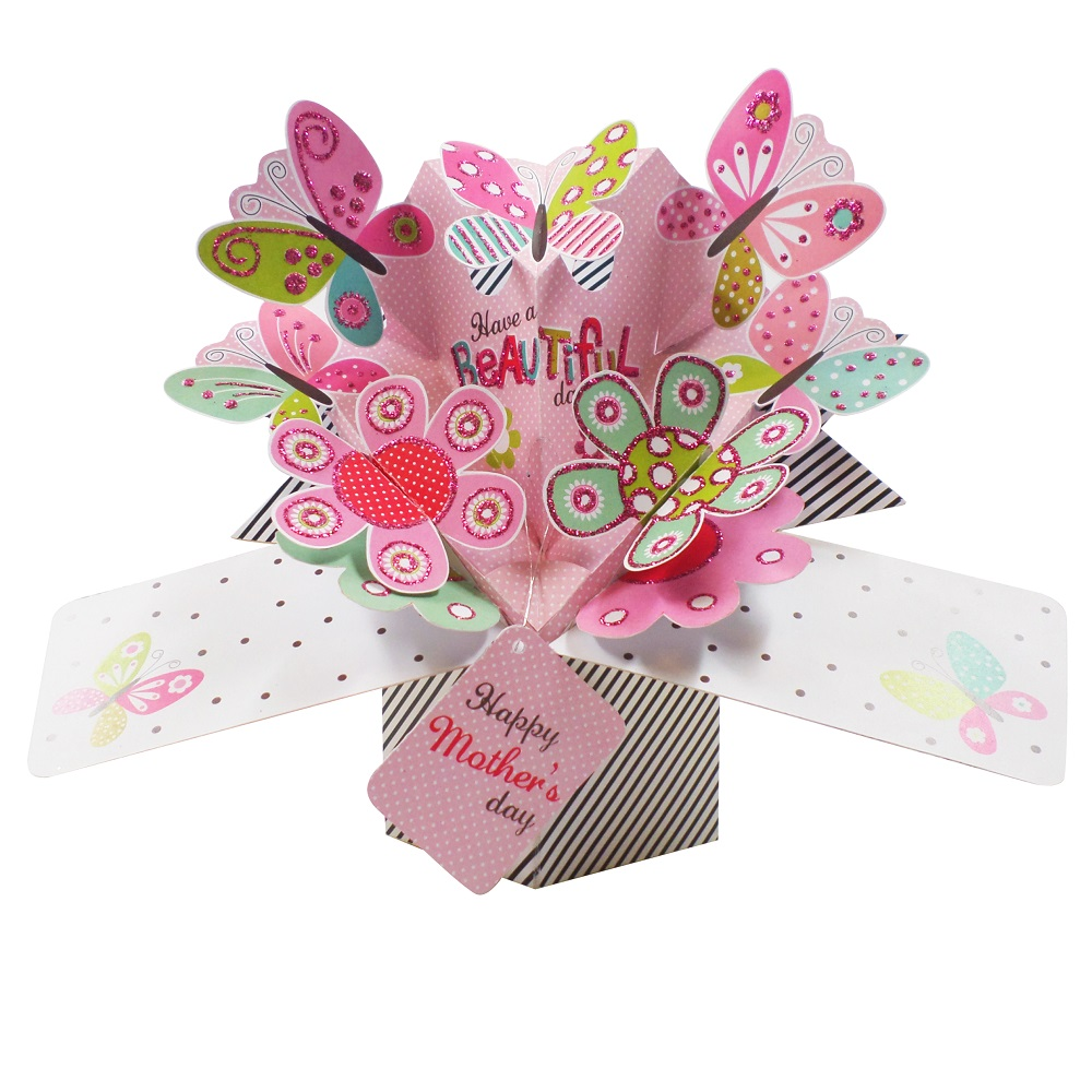 pop up birthday cards for mom - happy mother 39 s day butterfly pop up greeting card cards
