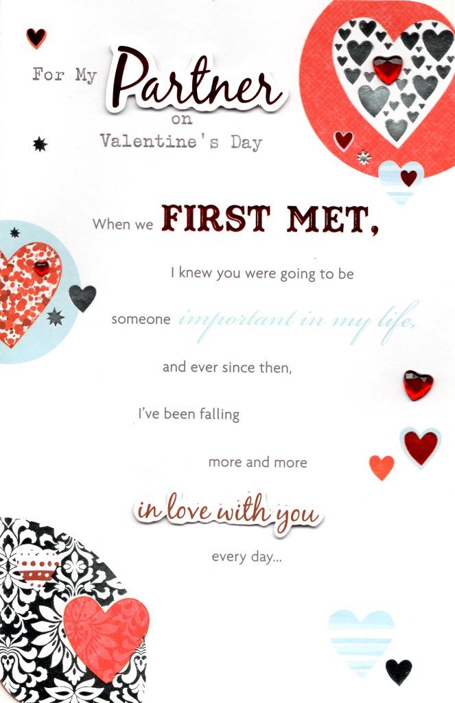 partner valentine's day greeting card  cards  love kates