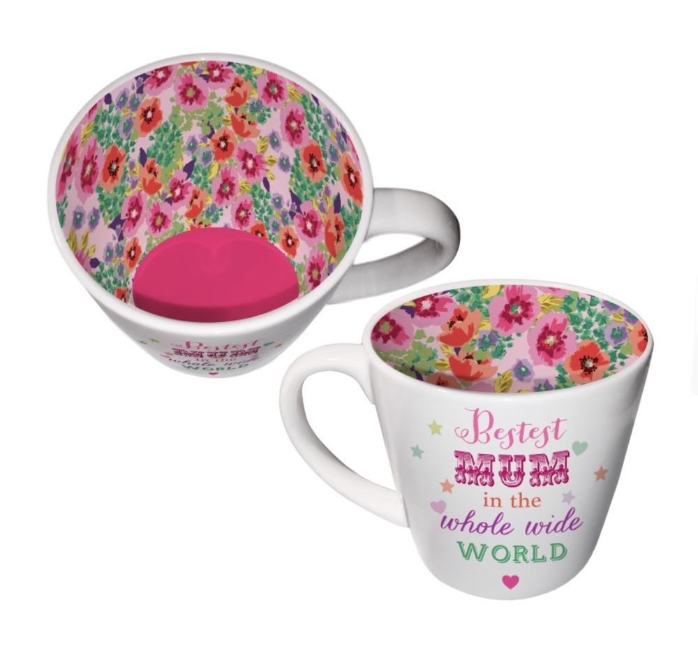 Bestest Mum In The Whole World Inside Out Mug In Gift Box