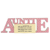 Special Auntie Sentiments From The Heart Word Block
