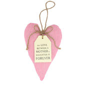 Mother & Daughter Sentiments From The Heart Hanging Cushion