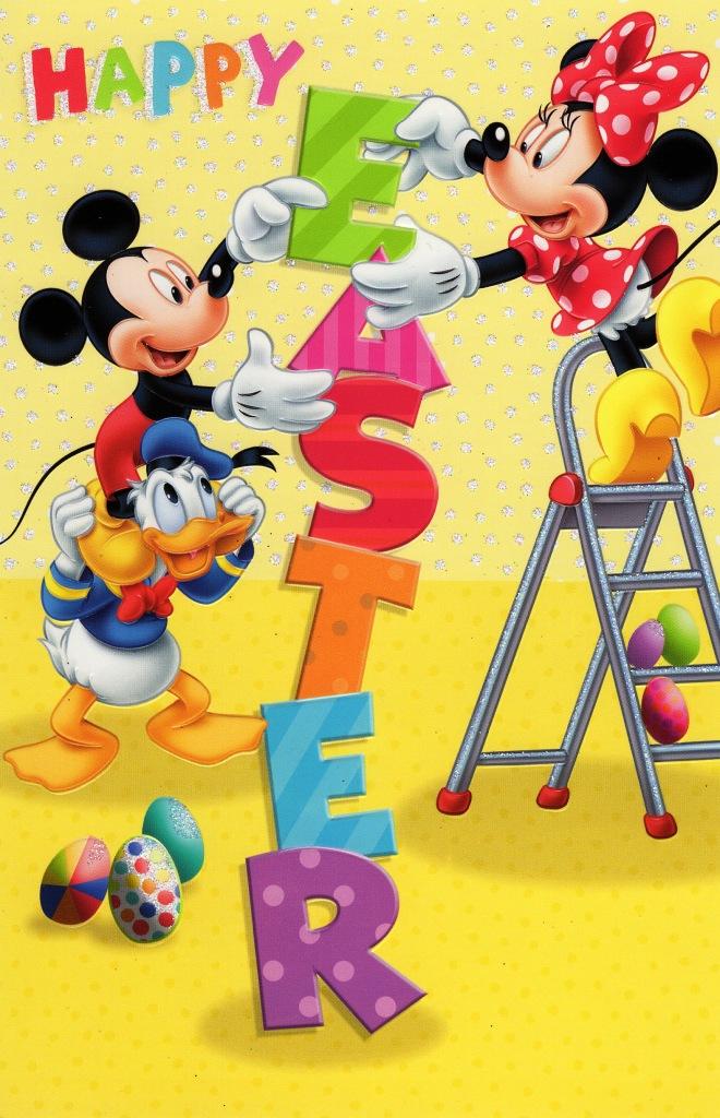 Disney Mickey & Minnie Happy Easter Greeting Card ...