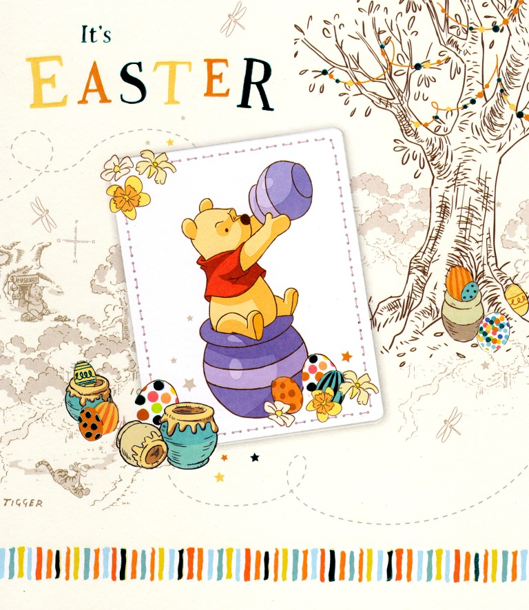disney winnie the pooh it's easter greeting card  cards  love kates, Greeting card