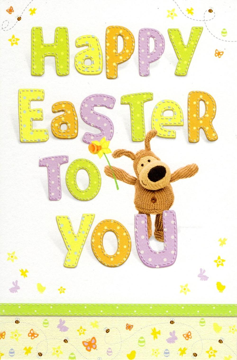 boofle cute happy easter to you greeting card cards