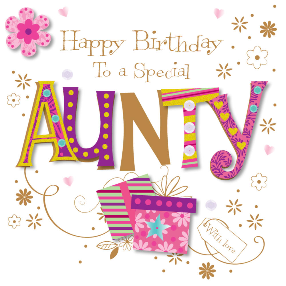 home cards relations female aunt auntie birthday card