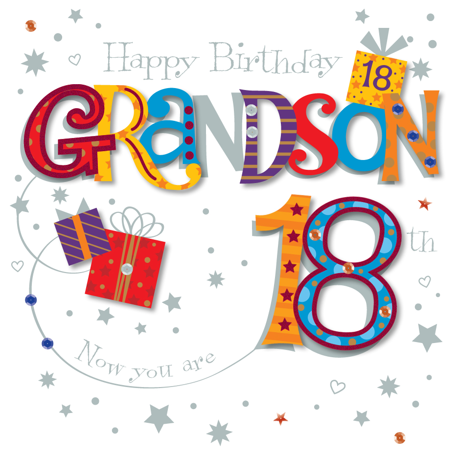 Grandson 18th Birthday Greeting Card By Talking Pictures