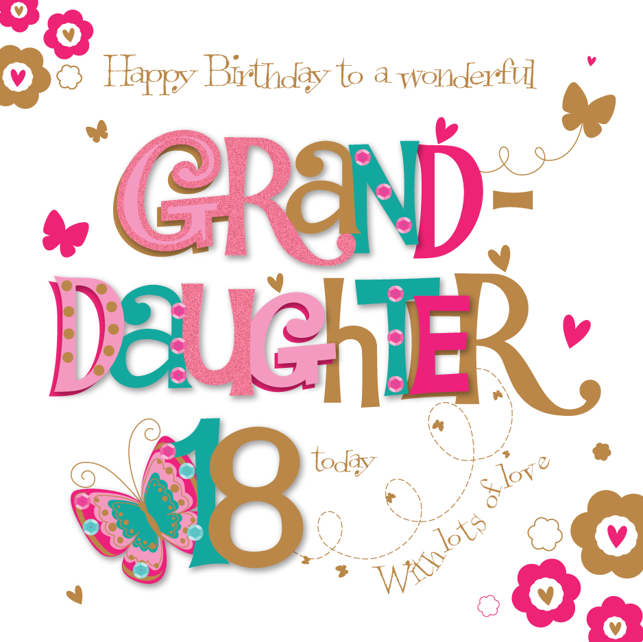 Granddaughter 18th Birthday Greeting Card
