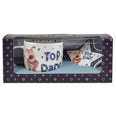 Boofle Top Dad Mug & Coaster Gift Set