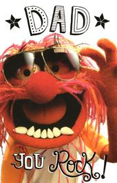 Muppets Dad You Rock Happy Father's Day Card