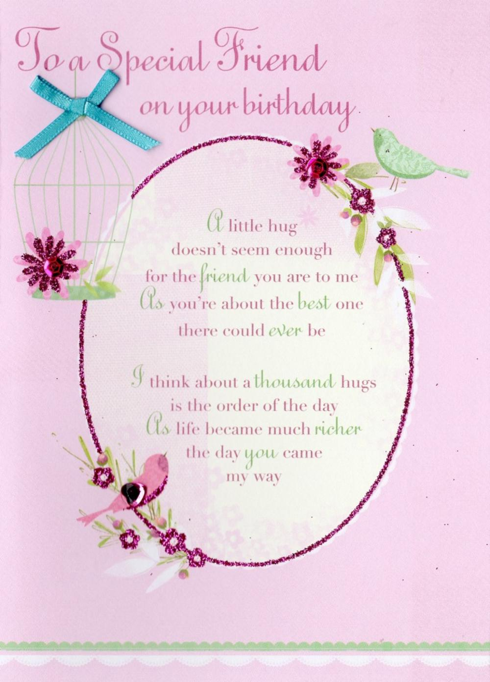 special friend birthday greeting card  cards  love kates, Birthday card