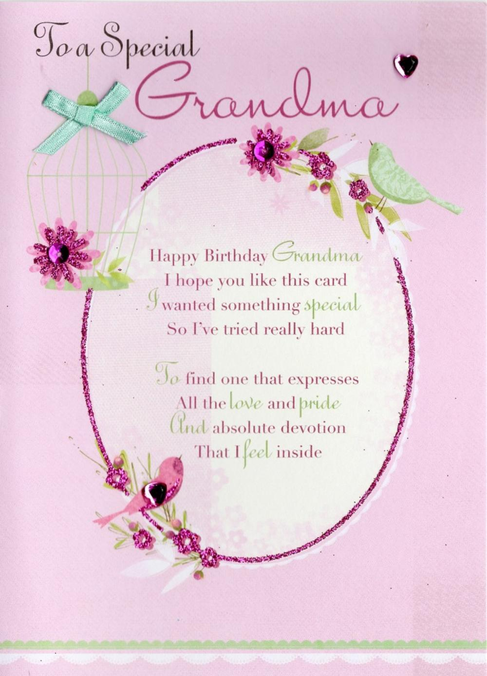Special grandma birthday greeting card cards love kates for What to get grandma for her birthday