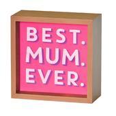 Best Mum Ever Light Up Lightbox Gift Idea