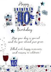 Male 40th Birthday Greeting Card