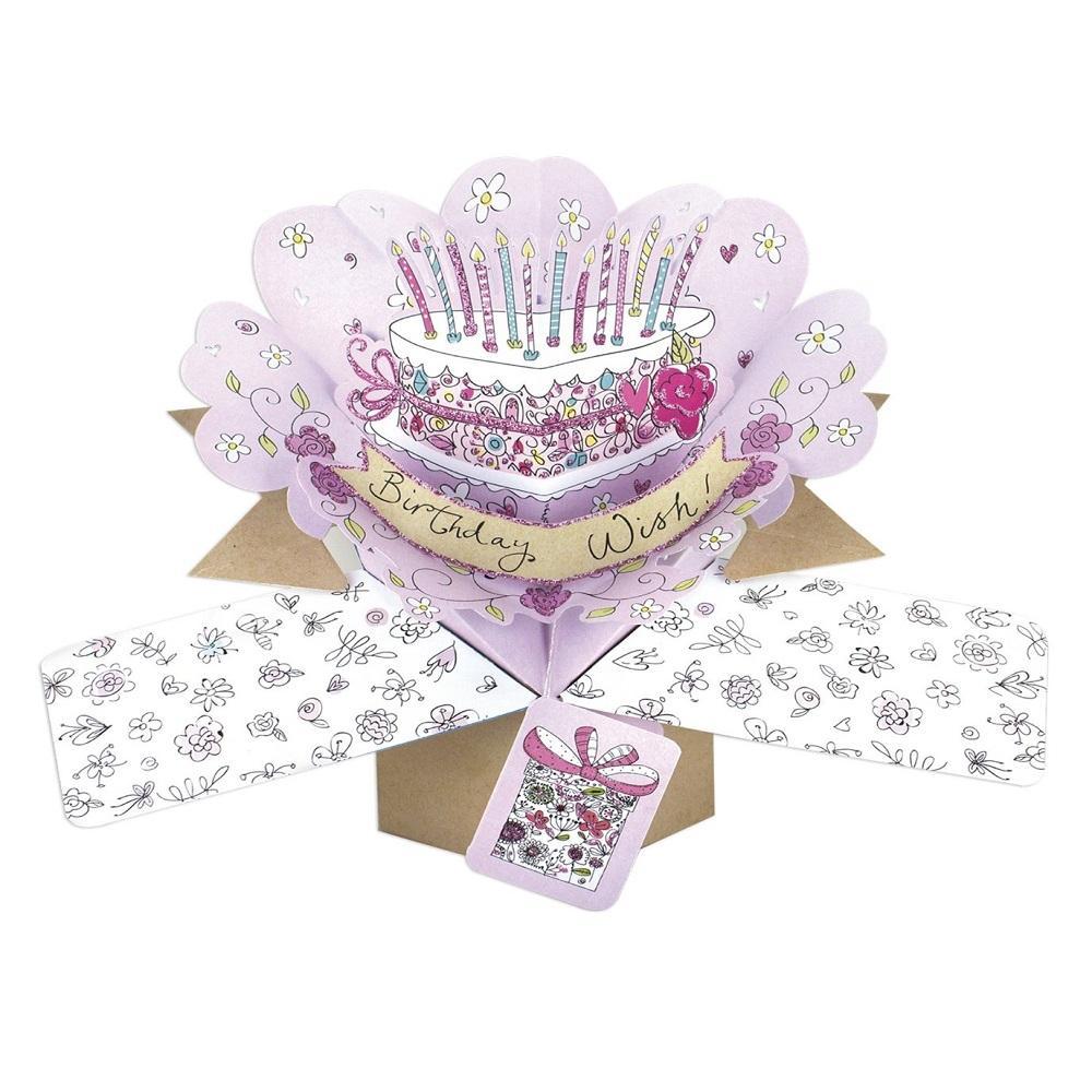 Birthday Cake Pop-Up Greeting Card  Cards  Love Kates