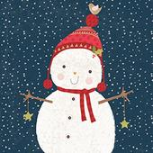 Pack of 8 Mini Snowman Autistic Society Charity Christmas Cards