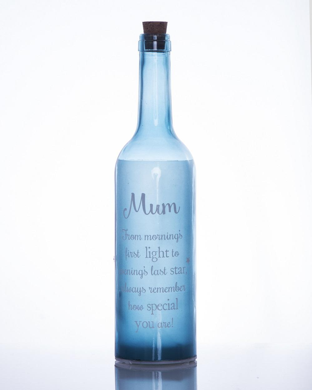 Mum Starlight Bottle Light Up Sentimental Message Bottles
