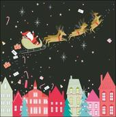 Pack of 5 Santa Sleigh Princes Trust Charity Christmas Cards