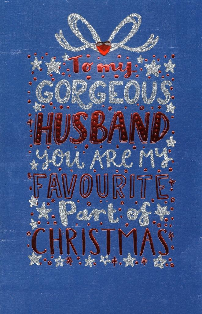 gorgeous husband christmas greeting card  cards  love kates
