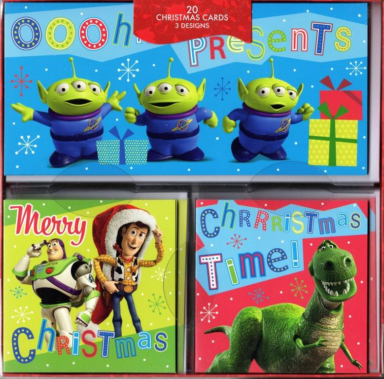 Box Of 20 Toy Story Themed Assorted Christmas Cards 3