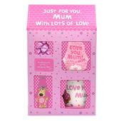 Boofle Lovely Mum Mug, Socks, Keyring & Chocs Gift Set