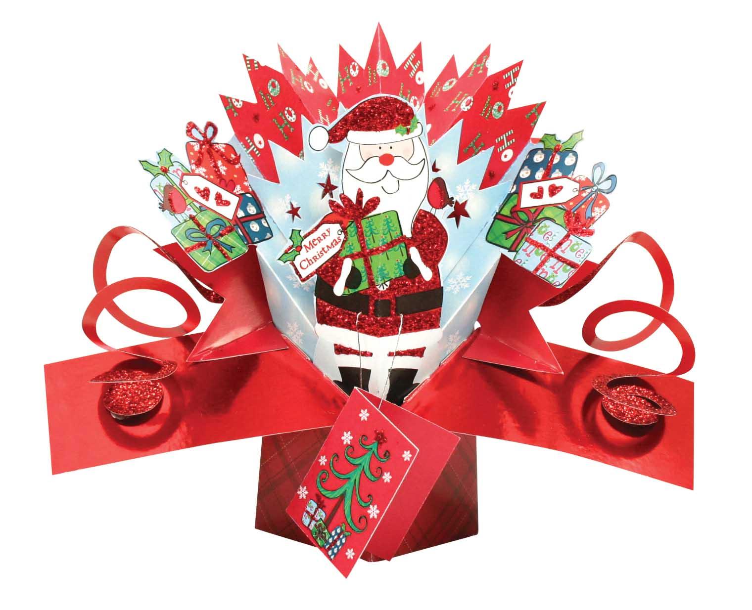santa petite christmas popup greeting card second nature