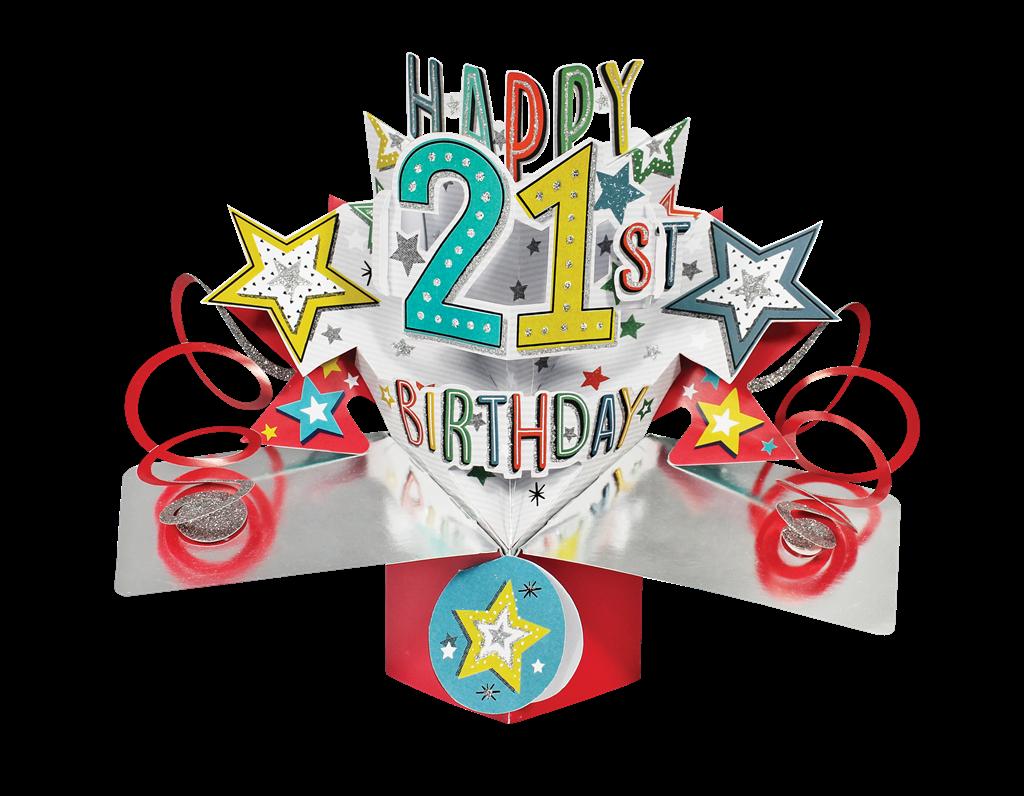 Happy 21st Birthday Pop-Up Greeting Card Original Second ...