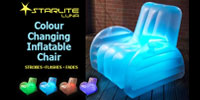 The Starlite Luna Inflatable Chair Prepare to be gob-smacked