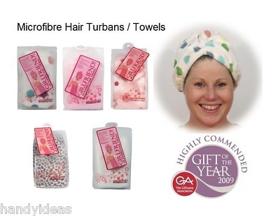Microfibre HAIR TURBANS & TOWELS Quick Dry Wrap on Head