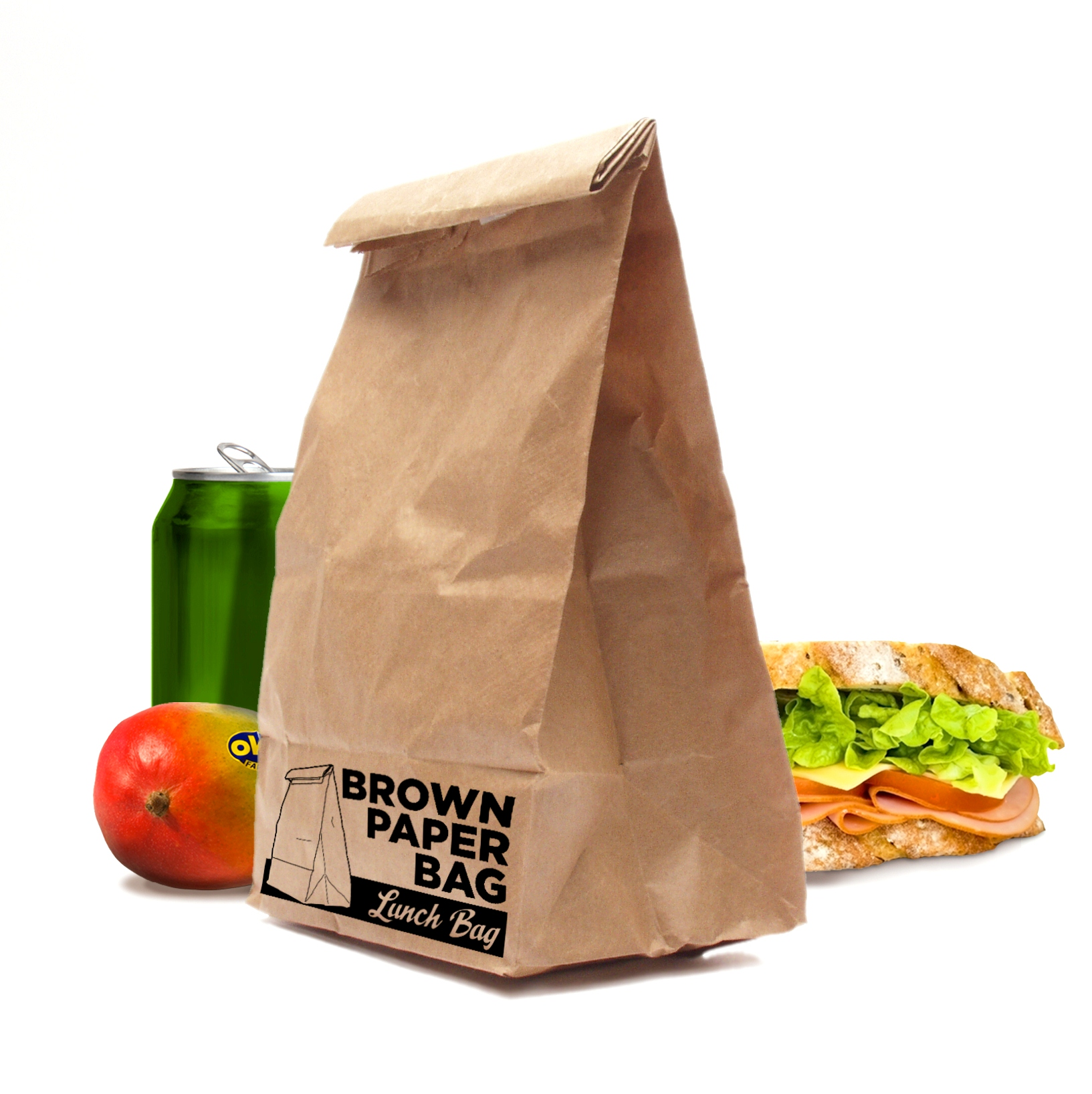 Brown Paper Bag Lunch Bags Tough Insulated Office Packed