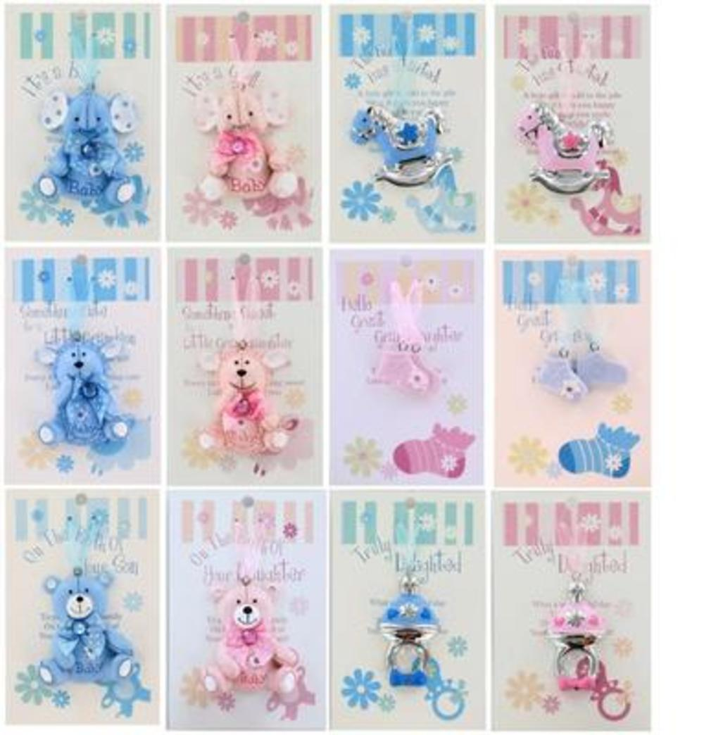 Special New Baby Gift Ideas : New baby gifts pram cot hanger charms special sentimental