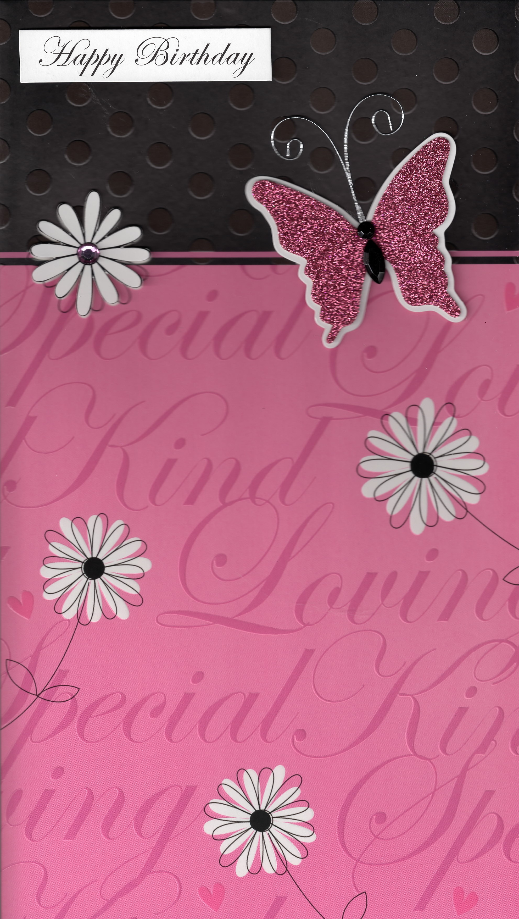Luxury Large A4 Pink Female Happy Birthday Card Gorgeous Big Greeting Cards Ebay