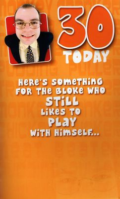 Swell Funny Male 30Th Birthday Cards Joke Card Play With Self Funny Birthday Cards Online Benoljebrpdamsfinfo