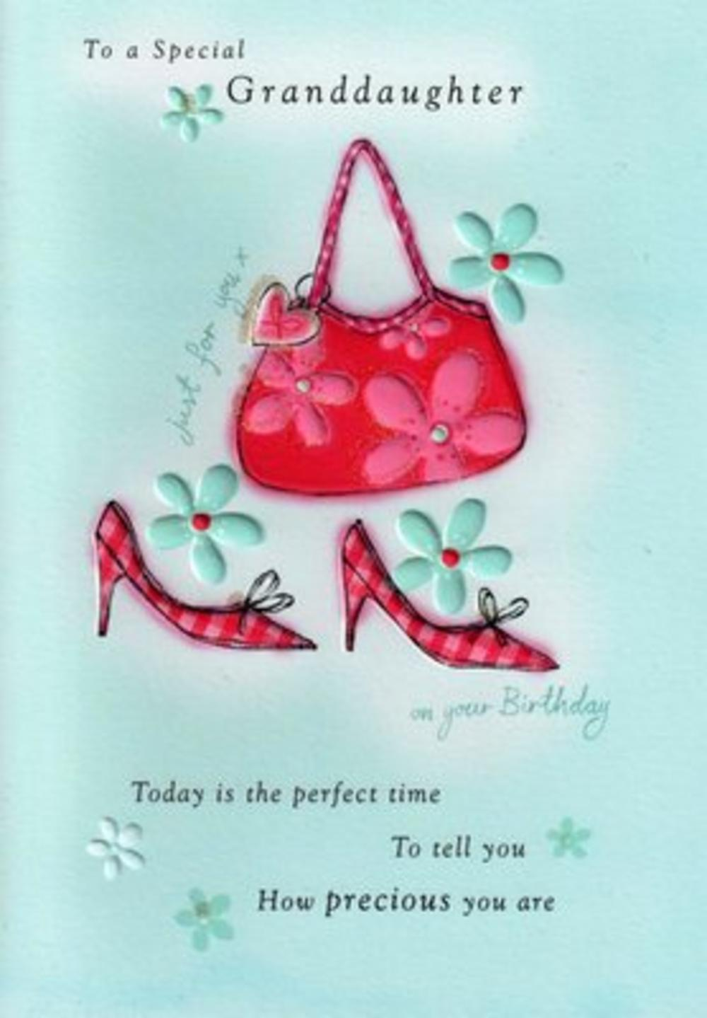 Granddaughter Birthday Poetry In Motion Card Cards