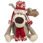 """10"""" Sitting One In A Million Boofle Wearing Hat & Scarf"""