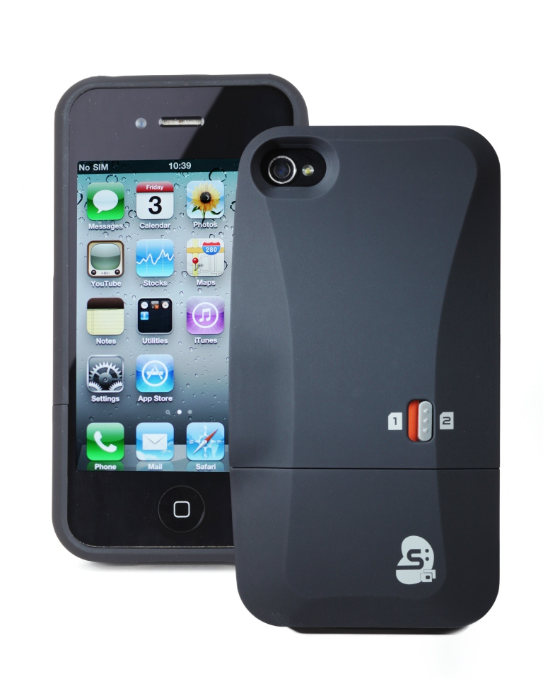 thumbs up dual sim case iphone 4 4s compatible works two. Black Bedroom Furniture Sets. Home Design Ideas