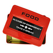 Emergency Food Tin Metal Snack Lunch Box
