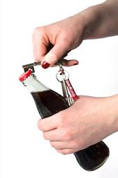 Key Shaped Bottle Opener Keyring